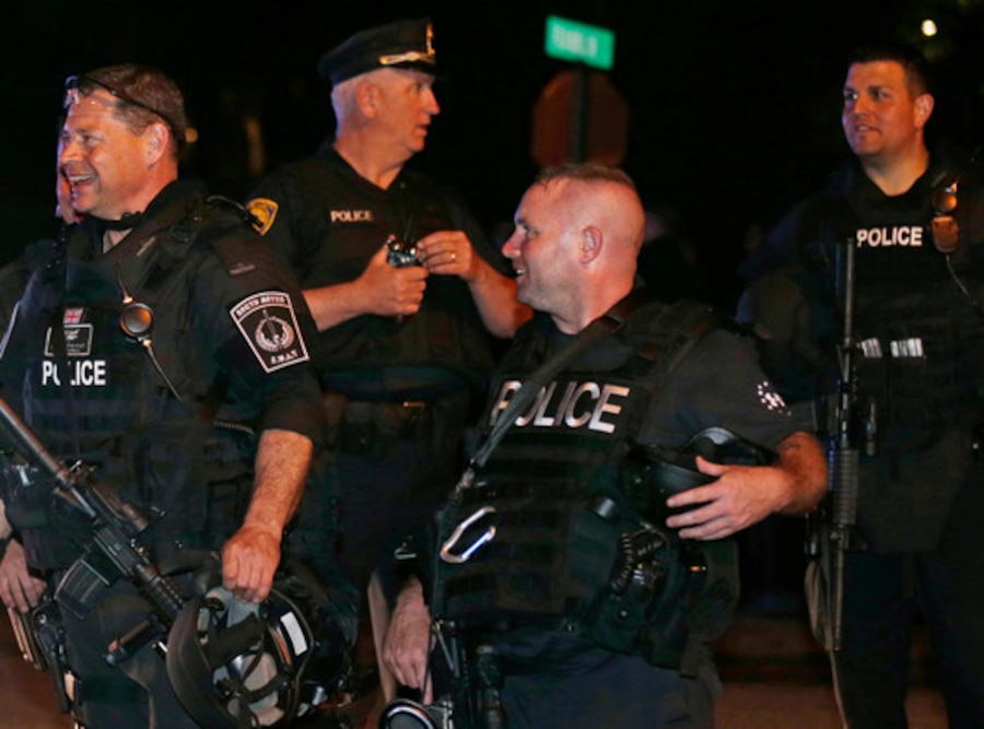 Happy Cops, Watertown, Boston bombing