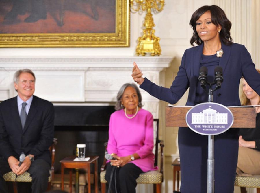 Harrison Ford, Rachel Robinson, Michelle Obama