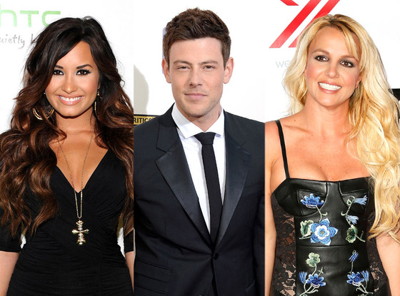 Demi Lovato, Cory Monteith and Britney Spears