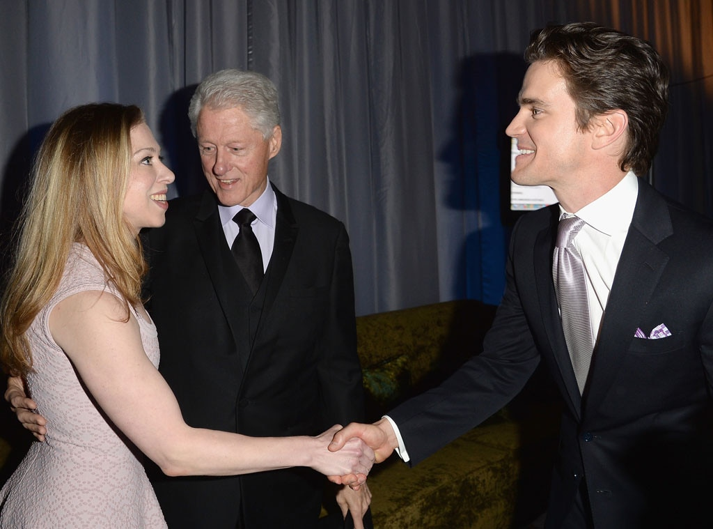 Chelsea Clinton, Bill Clinton, Matt Bomer, GLAAD Media Awards
