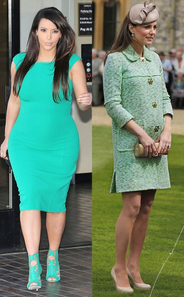 Kim Kardashian, Kate Middleton, Green
