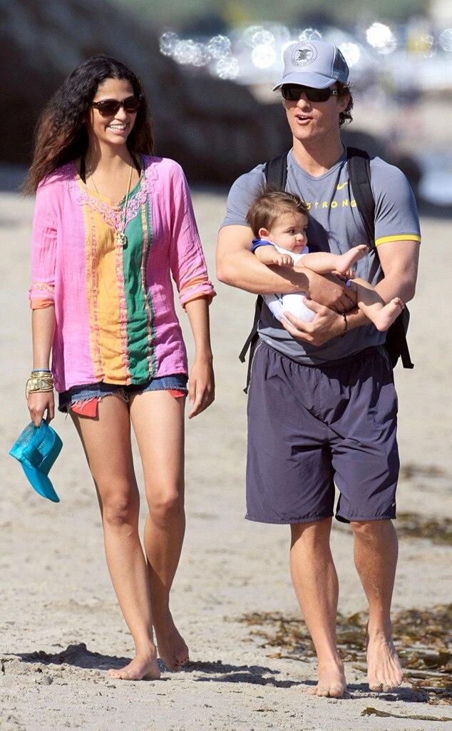 Matthew McConaughey, Levi McConaughey, Camila Alves, Celebrity Babies