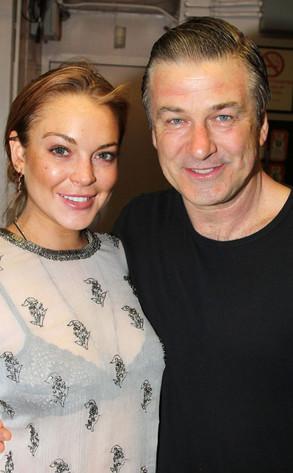 Lindsay Lohan, Alec Baldwin