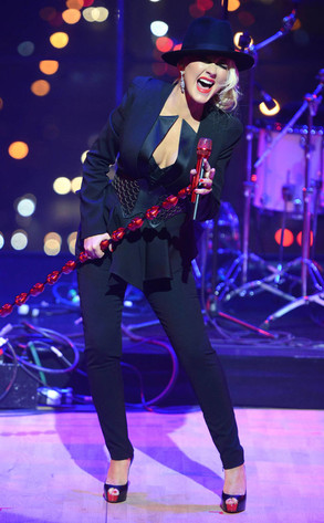 Christina Aguilera From Musicians Performing Live On Stage