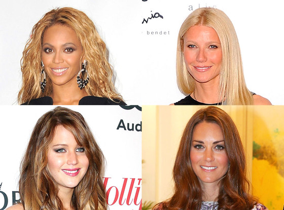 Gwyneth Paltrow, Beyonce, Jennifer Lawrence, Kate Middleton
