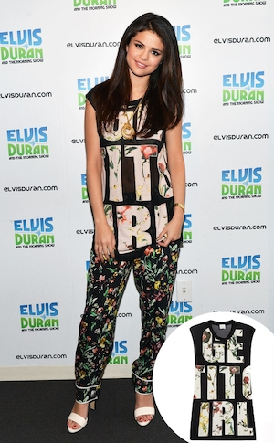 Selena Gomez, 3.1 PHILLIP LIM shirt