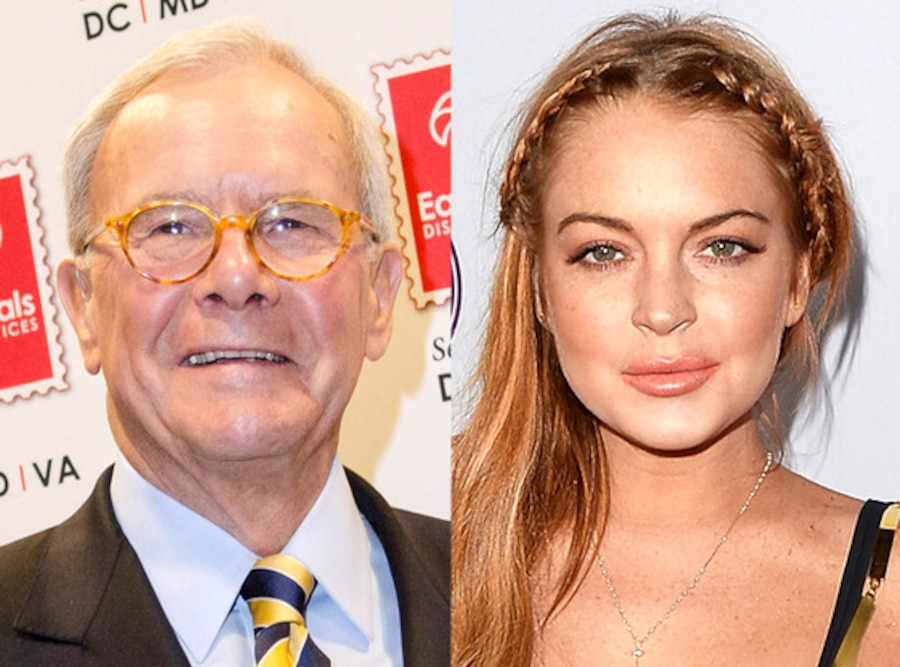 Tom Brokaw, Lindsay Lohan