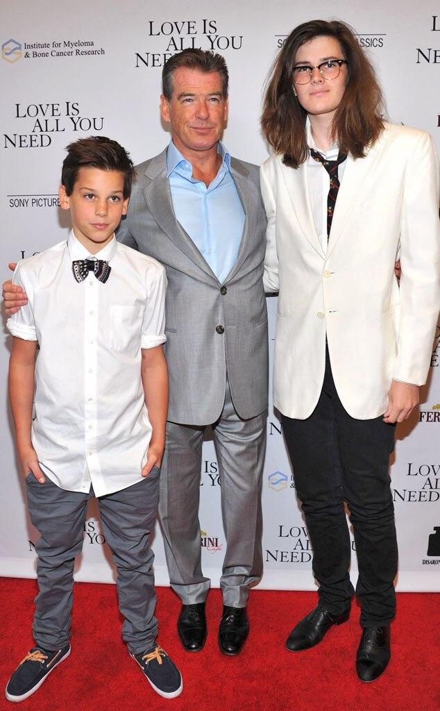 Pierce Brosnan, Paris Brosnan, Dylan Brosnan