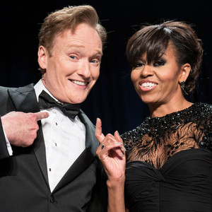 Conan O'Brien, US first lady Michelle Obama