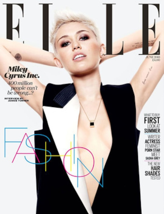 Miley Cyrus, Elle UK Cover