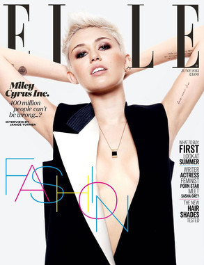 Miley Cyrus, Elle UK Cover