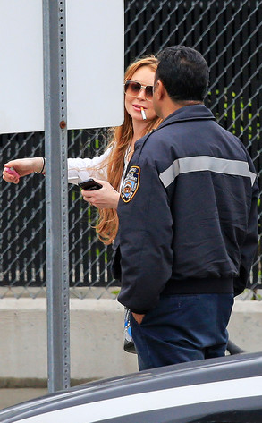 Lindsay Lohan, NYPD, Tow Impound Lot