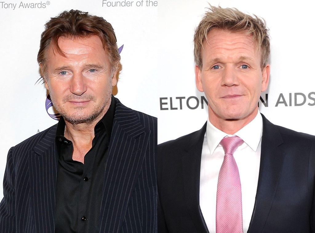 Liam Neeson, Gordon Ramsay