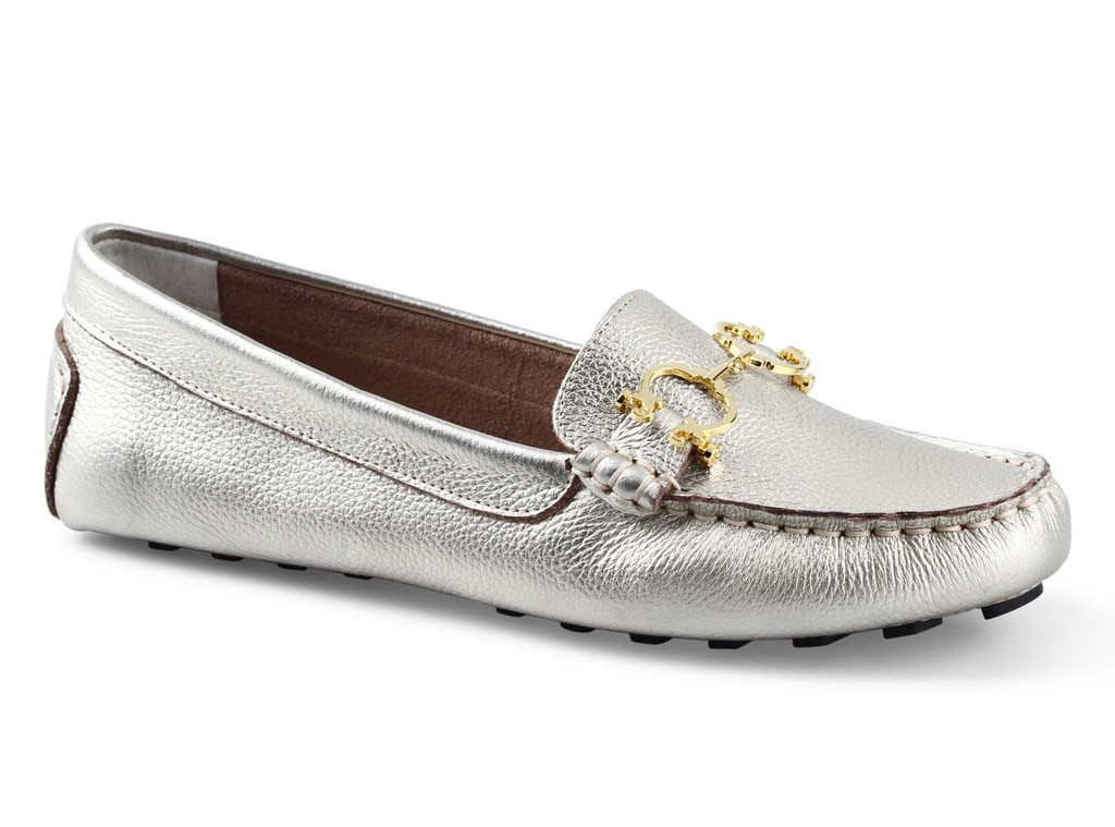 C. Wonder Metallic Leather Driving Mocs