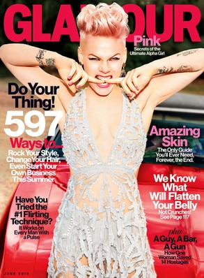 Pink, Glamour Cover