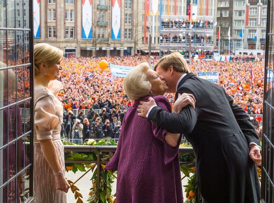 Queen Maxima, Queen Beatrix, King Willem-Alexander of Netherlands