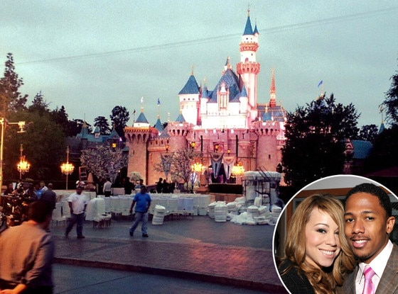 DisneyLand Castle, Mariah Carey, Nick Cannon