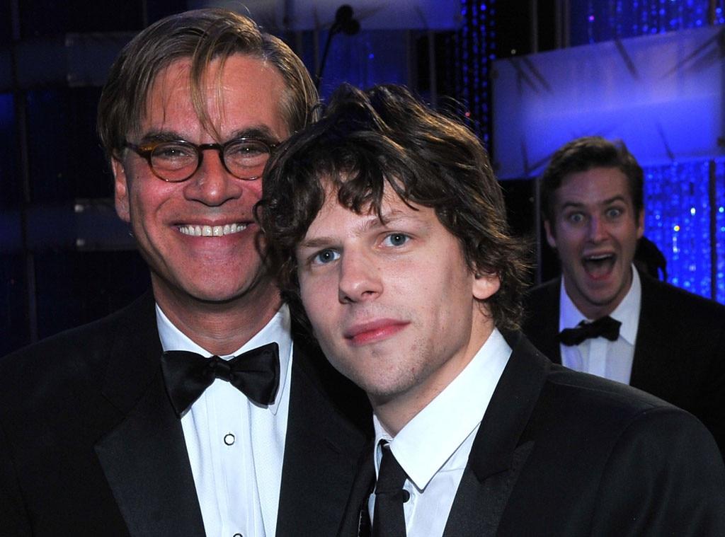 Aaron Sorkin, Jesse Eisenberg, Armie Hammer, Photobomb