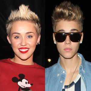 Miley Cyrus, Justin Bieber