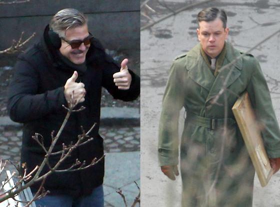 George Clooney, Matt Damon, The Monuments Men