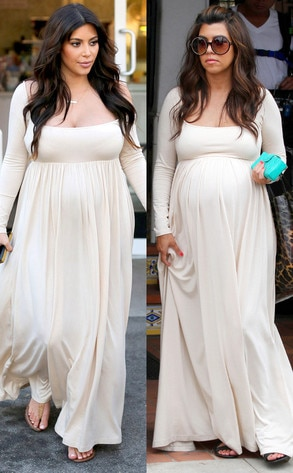 Kim Kardashian, Kourtney Kardashian, same dress