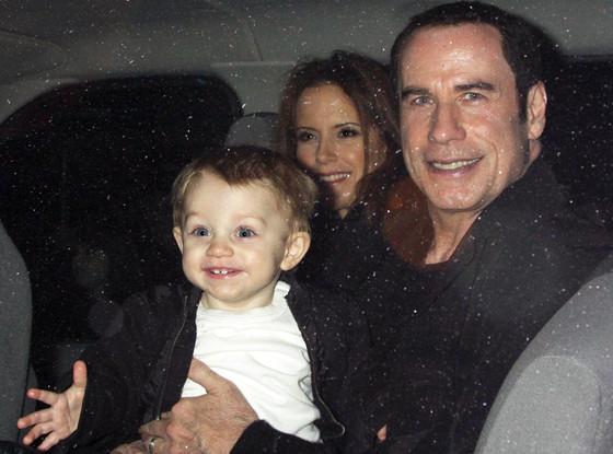 John Travolta, Benjamin Travolta, Kelly Preston