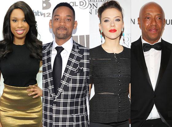 Will Smith, Jennifer Hudson, Scarlett Johansson, Russell Simmons