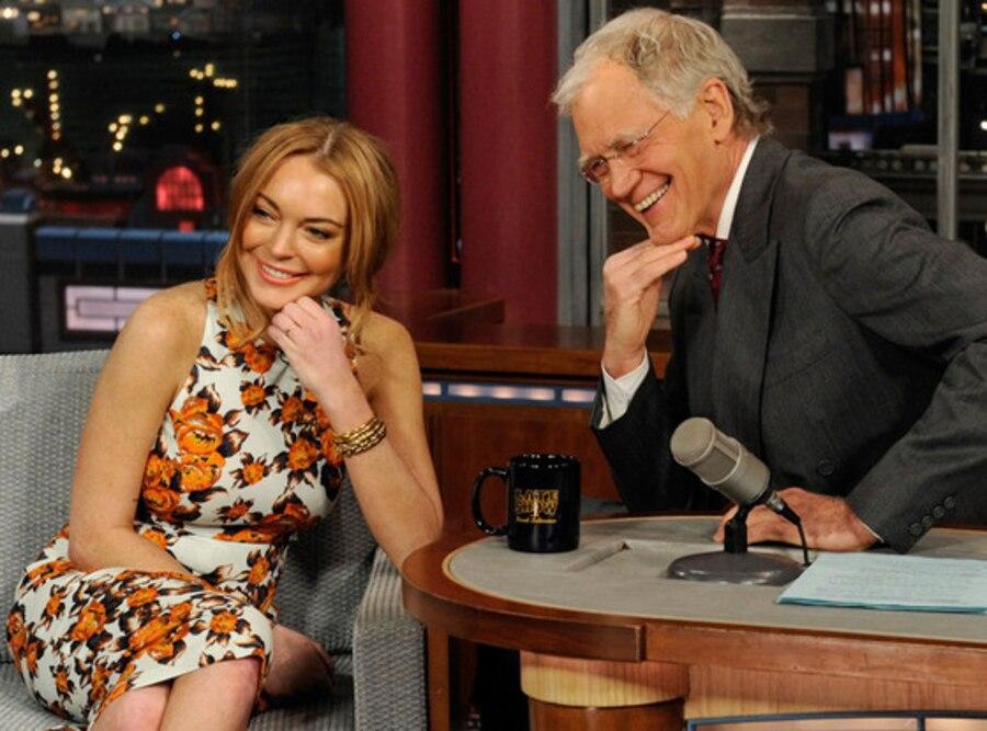 Lindsay Lohan, Late Show with David Letterman