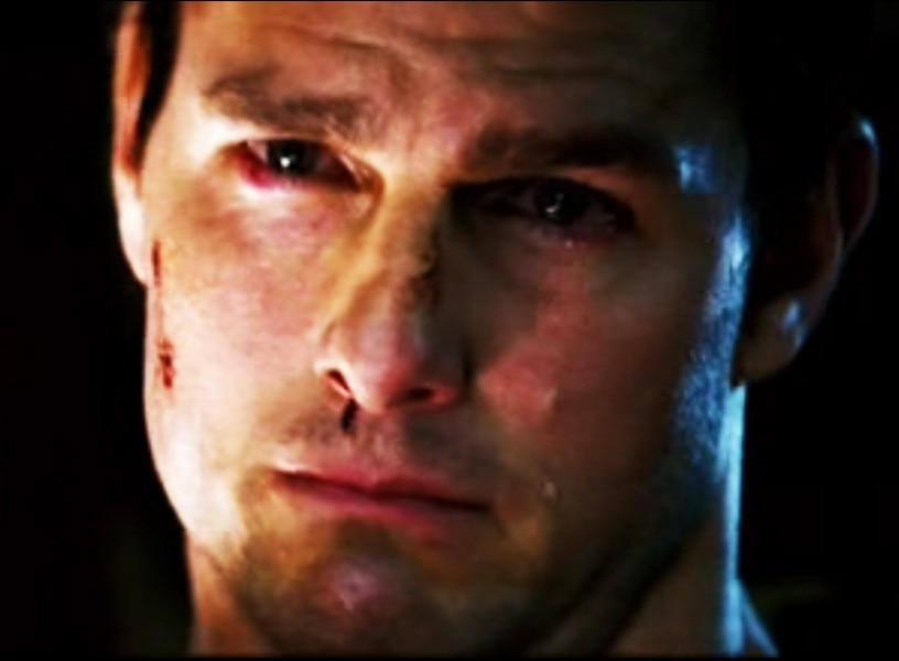 Tom Cruise crying