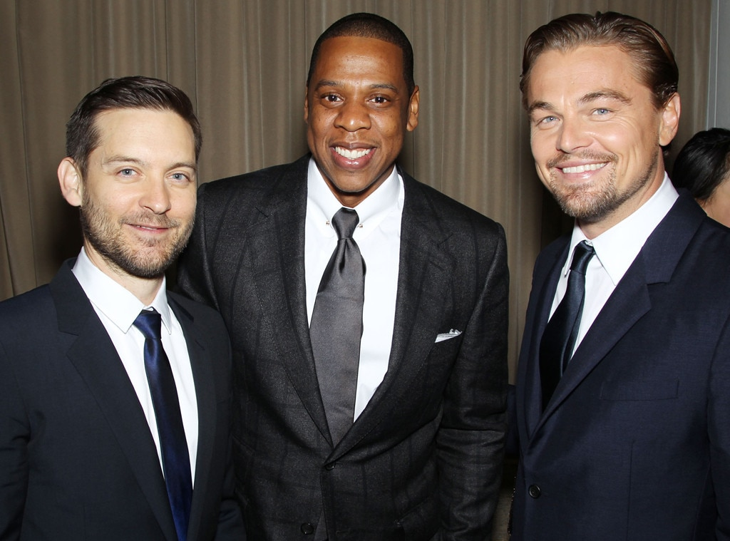 Tobey Maguire, Jay-Z, Leonardo DiCaprio, The Great Gatsby Premiere