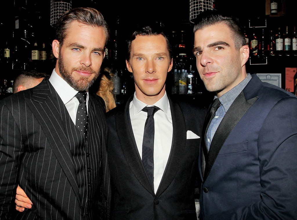 Chris Pine, Benedict Cumberbatch, Zachary Quinto