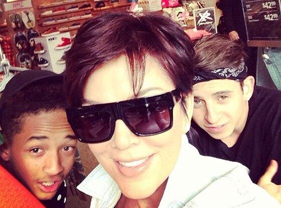 Kris Jenner, Jaden Smith, Instagram