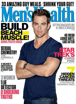 Chris Pine, Men's Health