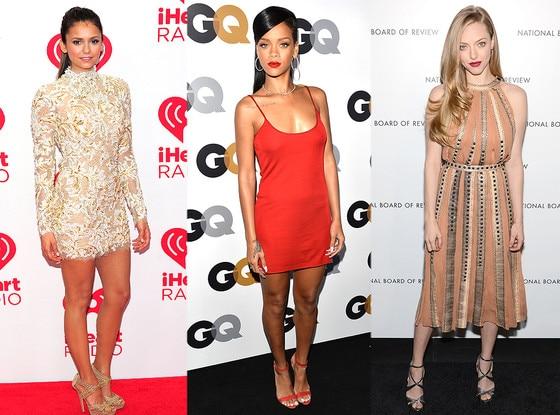 Rihanna, Nina Dobrev, Amanda Seyfried