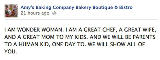Amy's Bakery Facebook Posts