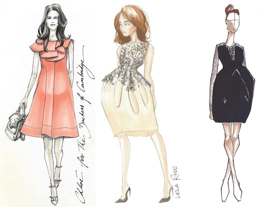 Kate Middleton, Chloe, Vera Wang, Lela Rose