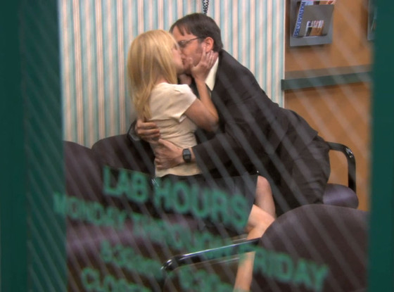 Rainn Wilson, Angela Kinsey, The Office