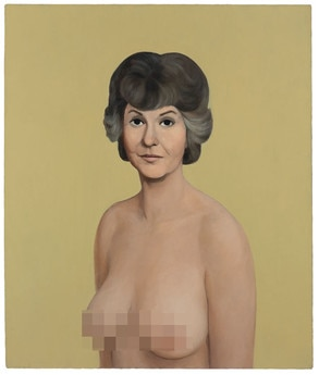 John Currin, Bea Arthur Naked Painting