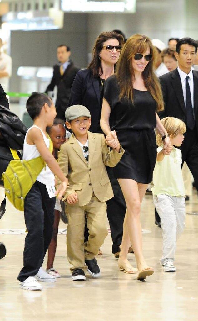 Angelina Jolie, Maddox, Pax, Zahara, Shiloh