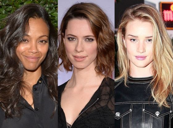 Zoe Saldana, Rebecca Hall, Rosie Huntington-Whiteley