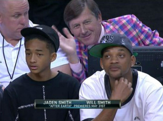 Craig Sager, Will Smith, Jaden Smith, Photobombing