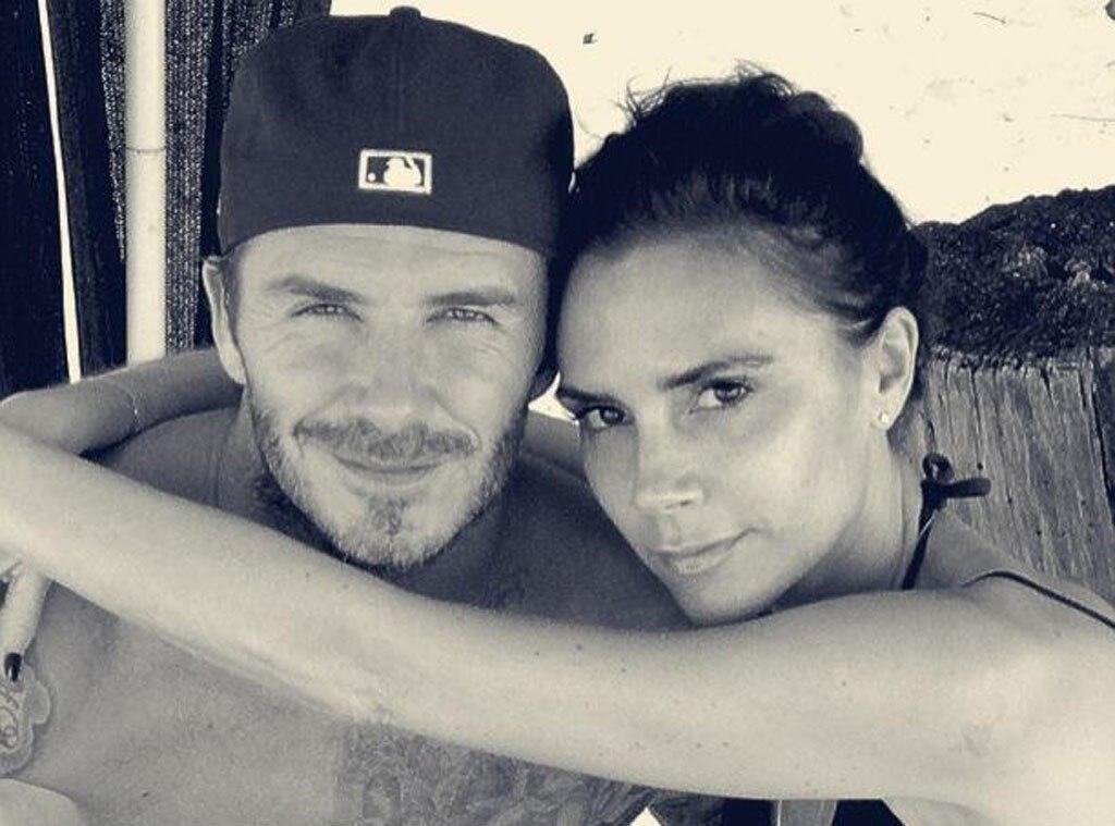 David Beckham, Victoria Beckham, Twit Pic