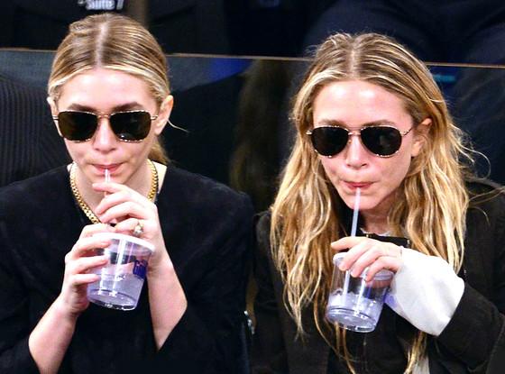 Ashley Olsen, Mary-Kate Olsen, New York Knicks Game