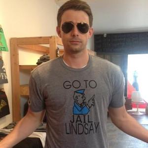 Jonathan Bennett, Lindsay Lohan, Go To Jail Lindsay shirt