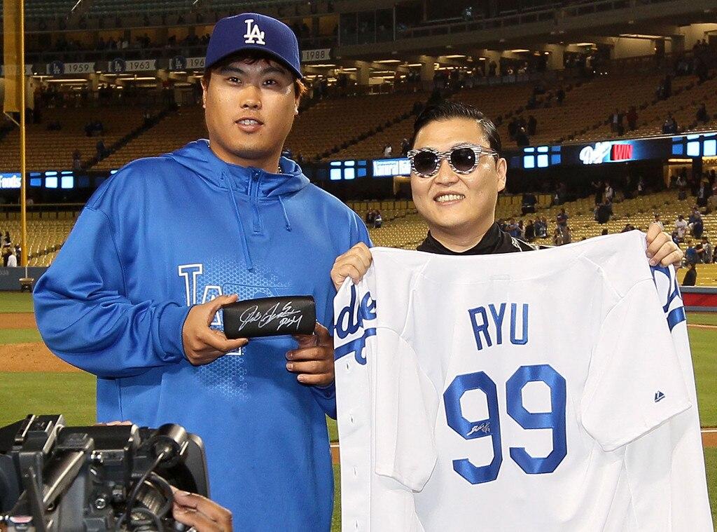 Hyun-Jin Ryu, Psy, Dodger