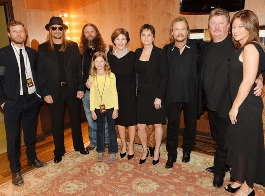 Dierks Bentley,Kid Rock, Jamey Johnson, Kaylee Johnson, Laura Bush, Nancy Jones, Travis Tritt, Joe Diffie, Theresa Crump, Jones Funeral