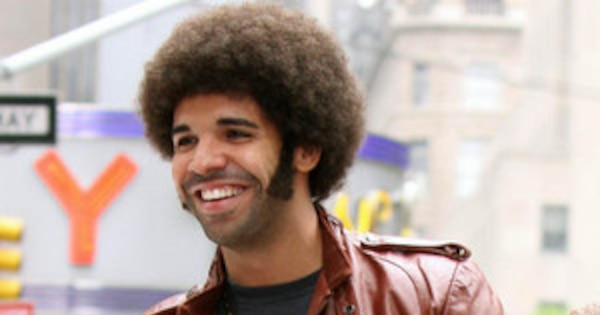 Anchorman Sequel Pics Stay Classy Drakes Afro Will Ferrells - Drake afro hairstyle