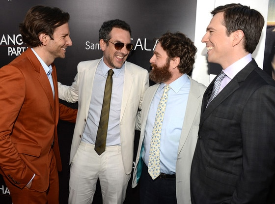 Bradley Cooper, Todd Phillips, Zach Galifianakis, Ed Helms