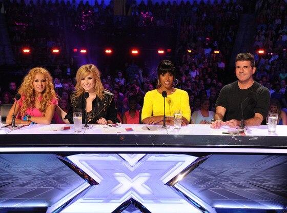 Paulina Rubio, Demi Lovato, Kelly Rowland, Simon Cowell, X Factor