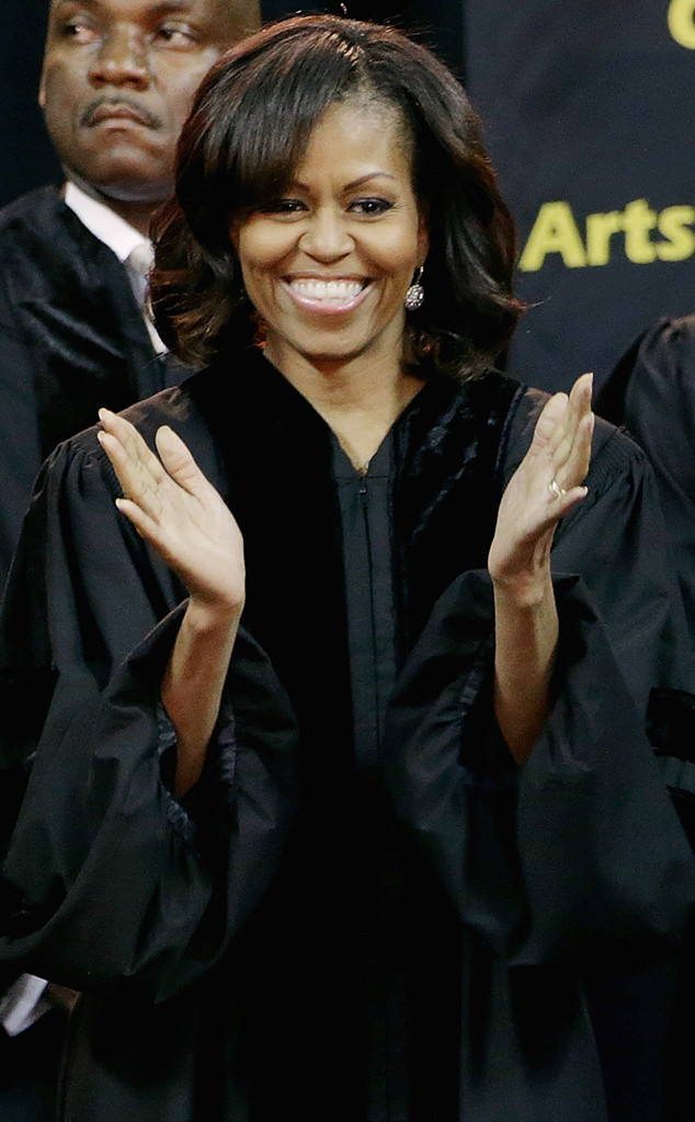 Michelle Obama, Bangs, Honorary Degree